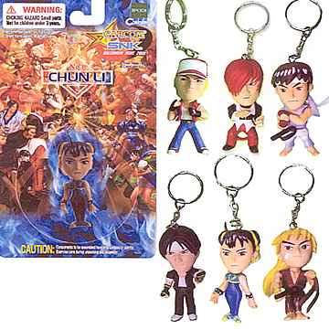 Capcom vs SNK Keychains 6-Pack