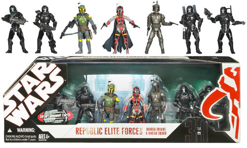 EE Exclusive Star Wars Mandalorians & Omega Squad Set