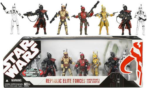EE Exclusive Star Wars Mandalorians & Clone Troopers Set