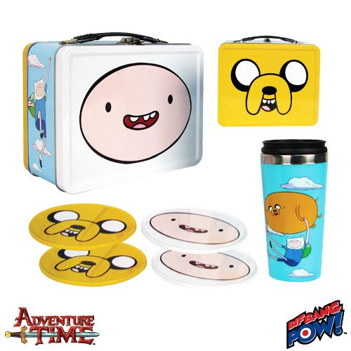 Adventure Time and Regular Show Tin Tote Gift Sets Daily Deal!