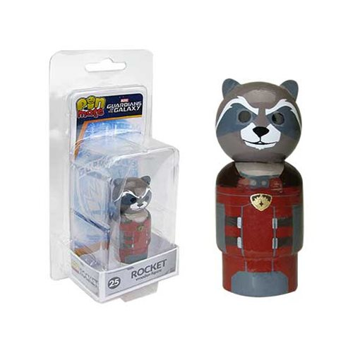 Guardians of the Galaxy Rocket Pin Mate Wooden Figure