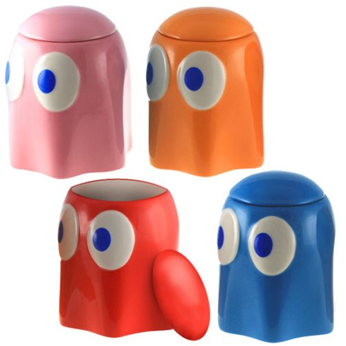 Pac-Man Ghosts Lidded Ceramic Container 4-Pack EE Exclusive