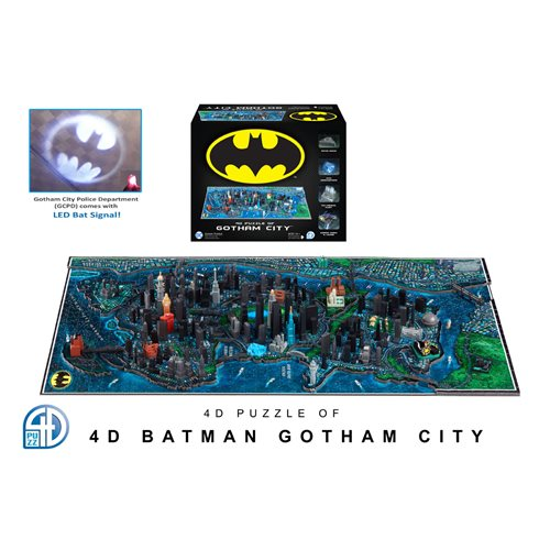 Gotham City Shines as 4D Cityscape Puzzle