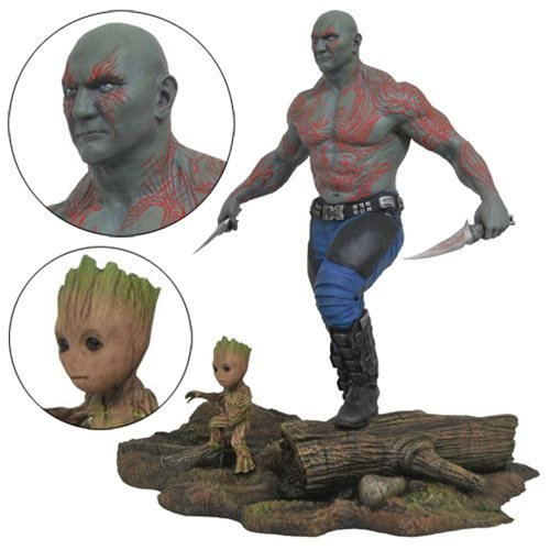 I Am Groot Statue. This Is Drax Statue.