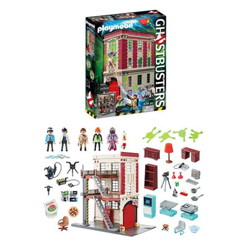 The Playmobil Ghostbusters Firehouse HQ Playset Is Awesome