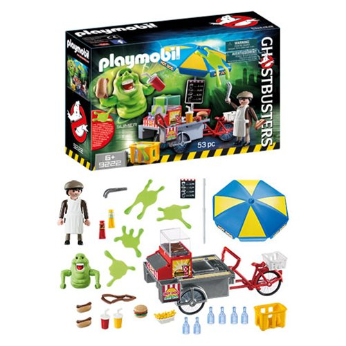 Playmobil Gets Slimed - Ghostbusters Haunt Entertainment Earth