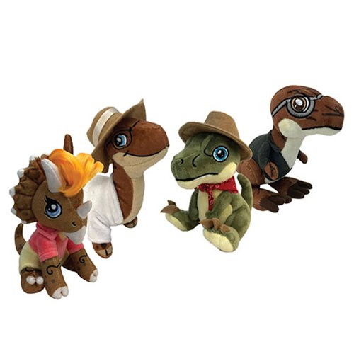 Jurassic Park Dinosaurs x Humans in Clawzplay Plush