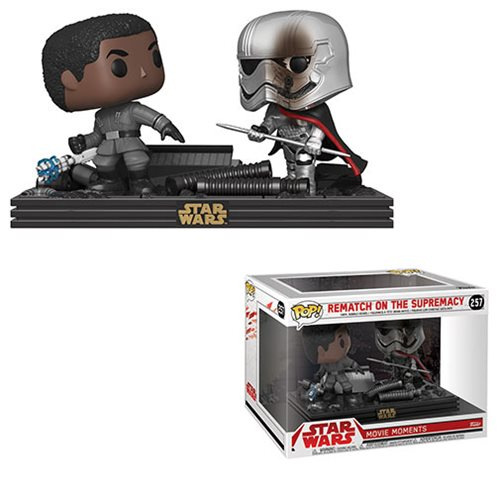 Star Wars TLJ Finn and Phasma Pop! Vinyl Movie Moments