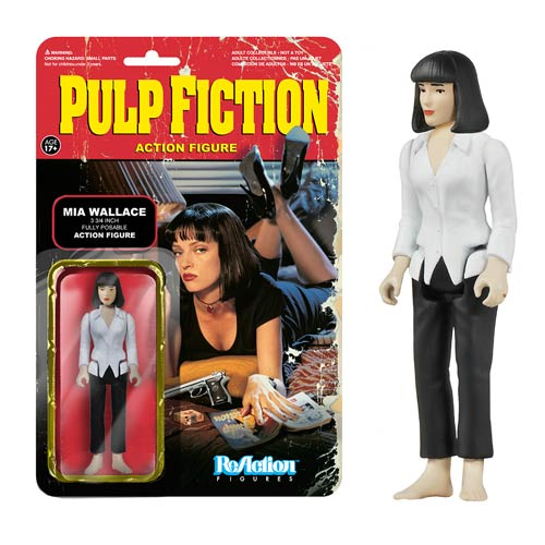 Pulp Fiction Mia Wallace ReAction 3 3/4-Inch Retro Figure