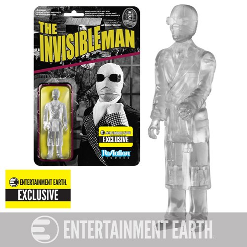 Universal Monsters Clear Invisible Man Figure - EE Exclusive