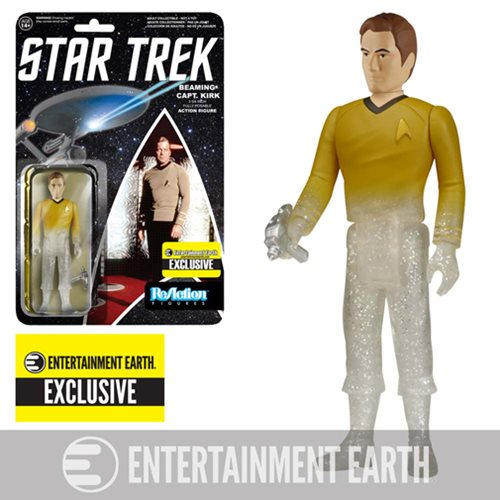 Star Trek: TOS Beaming Captain Kirk ReAction Figure EE Ex.