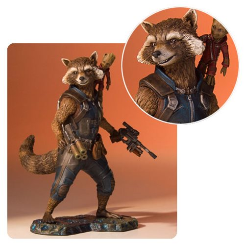 New Rocket and Groot Statue from Gentle Giant