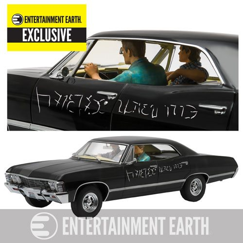 Supernatural Chevy Impala Sport Sedan Vehicle with Figures
