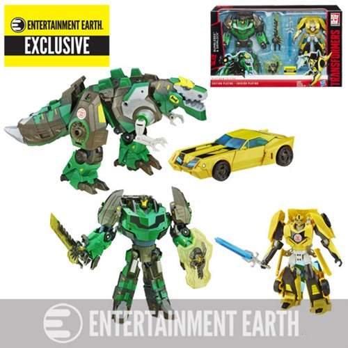 Transformers Platinum RID Bumblebee and Grimlock - Exclusive