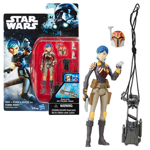 Star Wars Rogue One Rebels Sabine Wren Action Figure