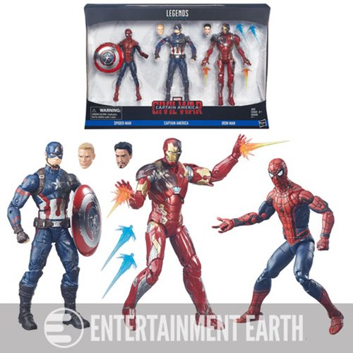 Captain America Civil War Marvel Legends Action Figures Set