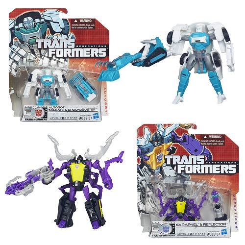 Transformers Generations Legends Wave 6 Includes Skrapnel and Tailgate!