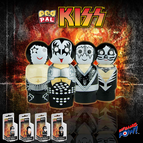 New KISS Peg Pal(TM) Collection from Bif Bang Pow!
