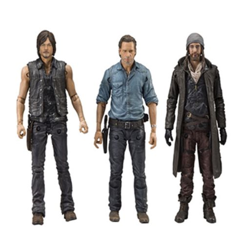 Jesus, Rick, and Daryl The Walking Dead Figure Set