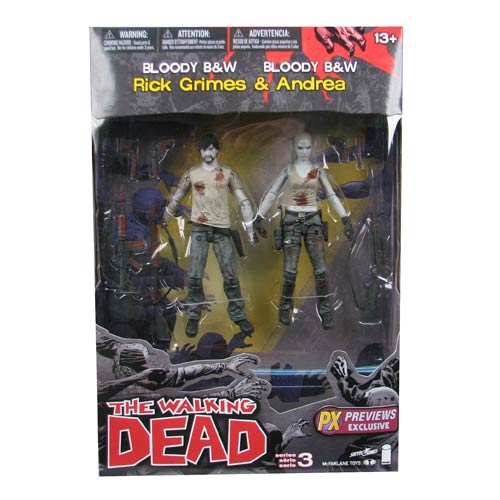 Walking Dead Exclusive Black-and-White Action Figure Set