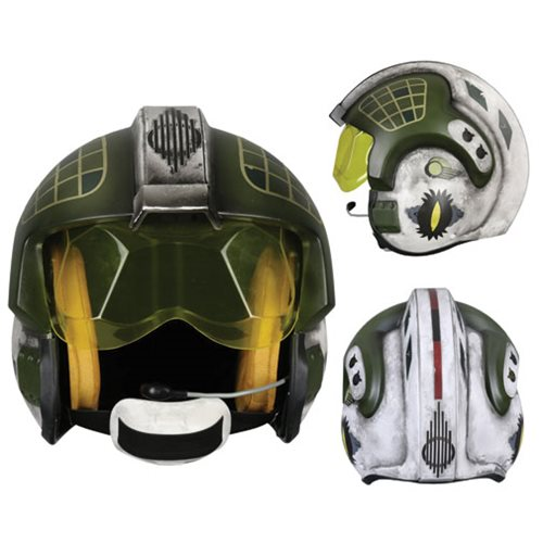 Star Wars Gold Leader Rebel Pilot Helmet Prop Replica
