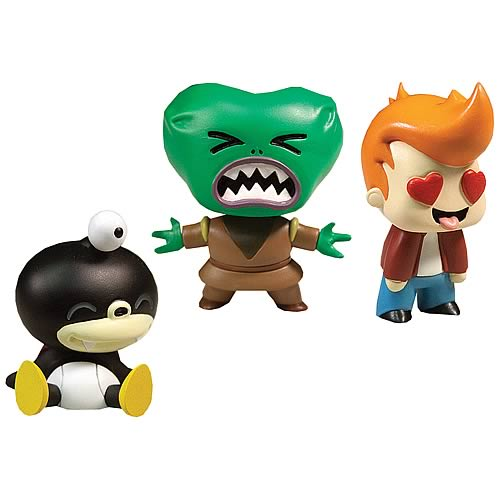 Adorable Futurama Tineez Figures - Nibbler, Morbo, Fry!