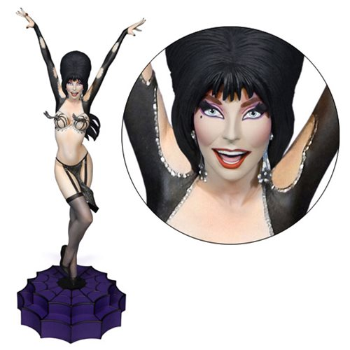 Gorgeous Elvira Statue Goes Vegas and/or Bust