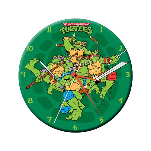 It's Turtle Time - Retro TMNT Wall Clock