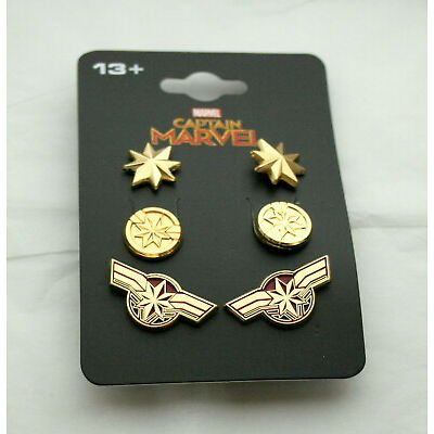 Captain Marvel Earings