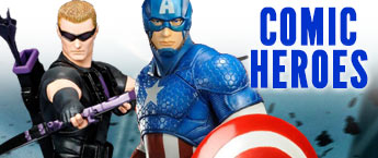 Comic Hero Action Figures, Statues, Toys, and More!