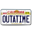Back to the Future Outatime License Plate Replica