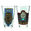 Star Wars VII Millennium Falcon Chewbacca Glass Tumbler