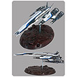 Mass Effect Normandy SR-2 Ship 18-Inch Replica Statue