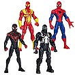 Ultimate Spider-Man Web Warriors Action Figures Wave 1 Set