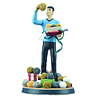 Star Trek Spock & Tribbles Christmas Fabric Mache Statue