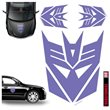 Transformers Decepticon Purple Car Graphics Set
