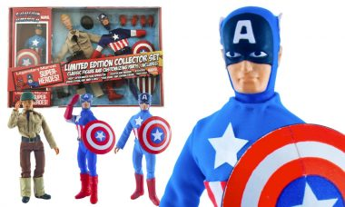 Captain America Limited Edition Retro Action Figure Set