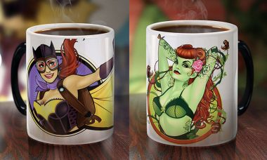 Wake Up with DC Bombshells Morphing Mugs