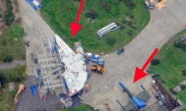 Star Wars Episode VII Millenium Falcon from Above