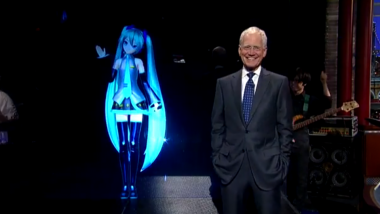 Hatsune Miku Shares the World with David Letterman