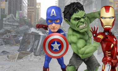 Freedom is Here with Avengers Bobble Heads