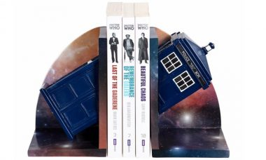 TARDIS Resin Bookend Keeps Your Time-Space Quarters Orderly