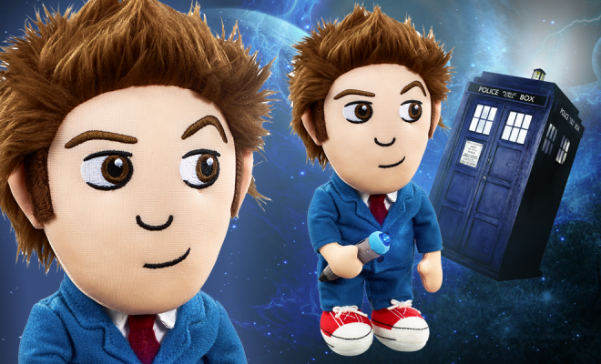 Cuddle The Tenth Doctor With This Light Up Plush