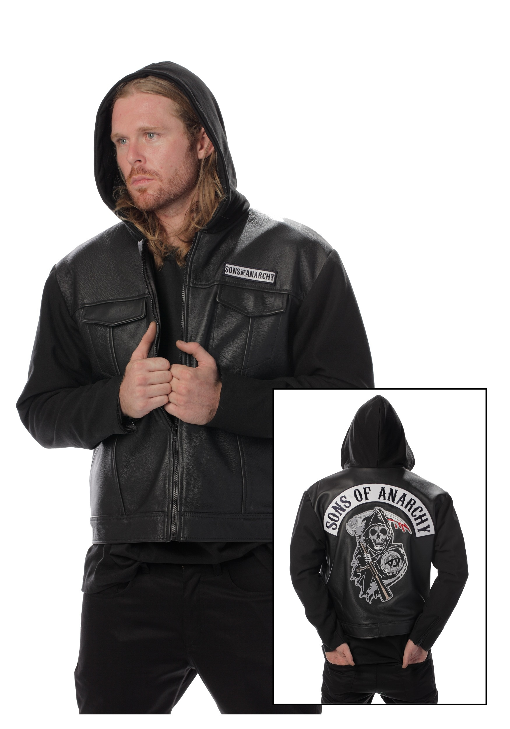 join samcro with the sons of anarchy leather jacket. Black Bedroom Furniture Sets. Home Design Ideas