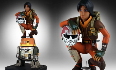 Join the Rebels with the Ezra and Chopper Maquette Statue