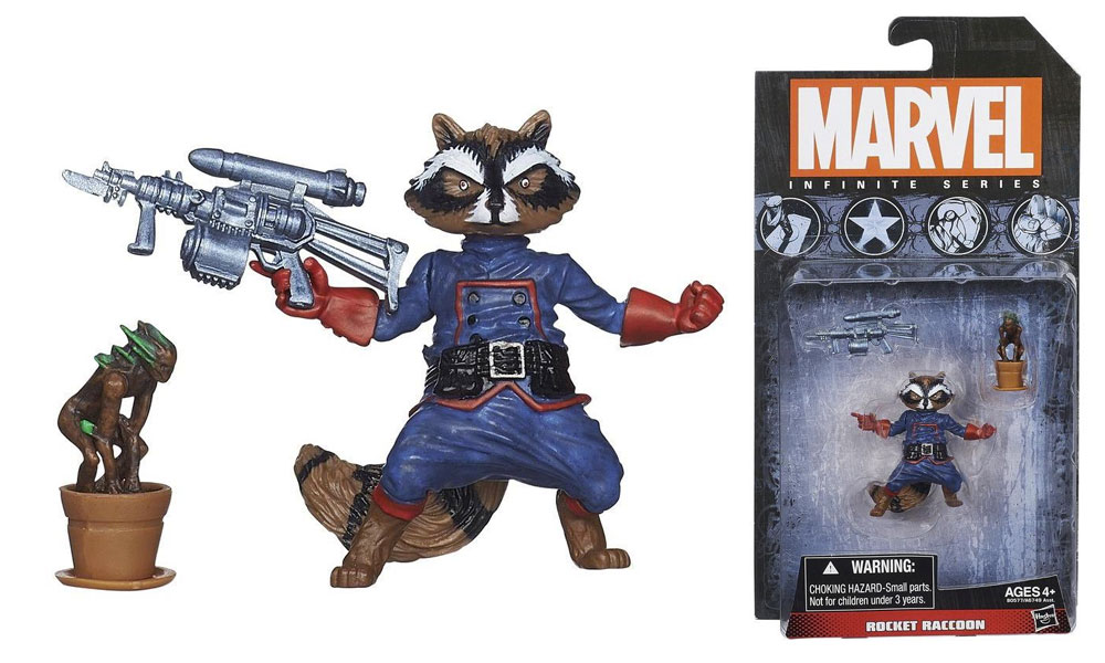 Rocket Raccoon Brings Groot To 3 3 4 Inch Scale Action