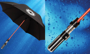 Did You Know Your Lightsaber Can Protect You from the Rain?