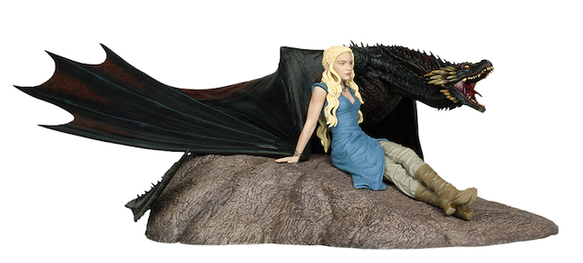 game of thrones dany and drogon statue