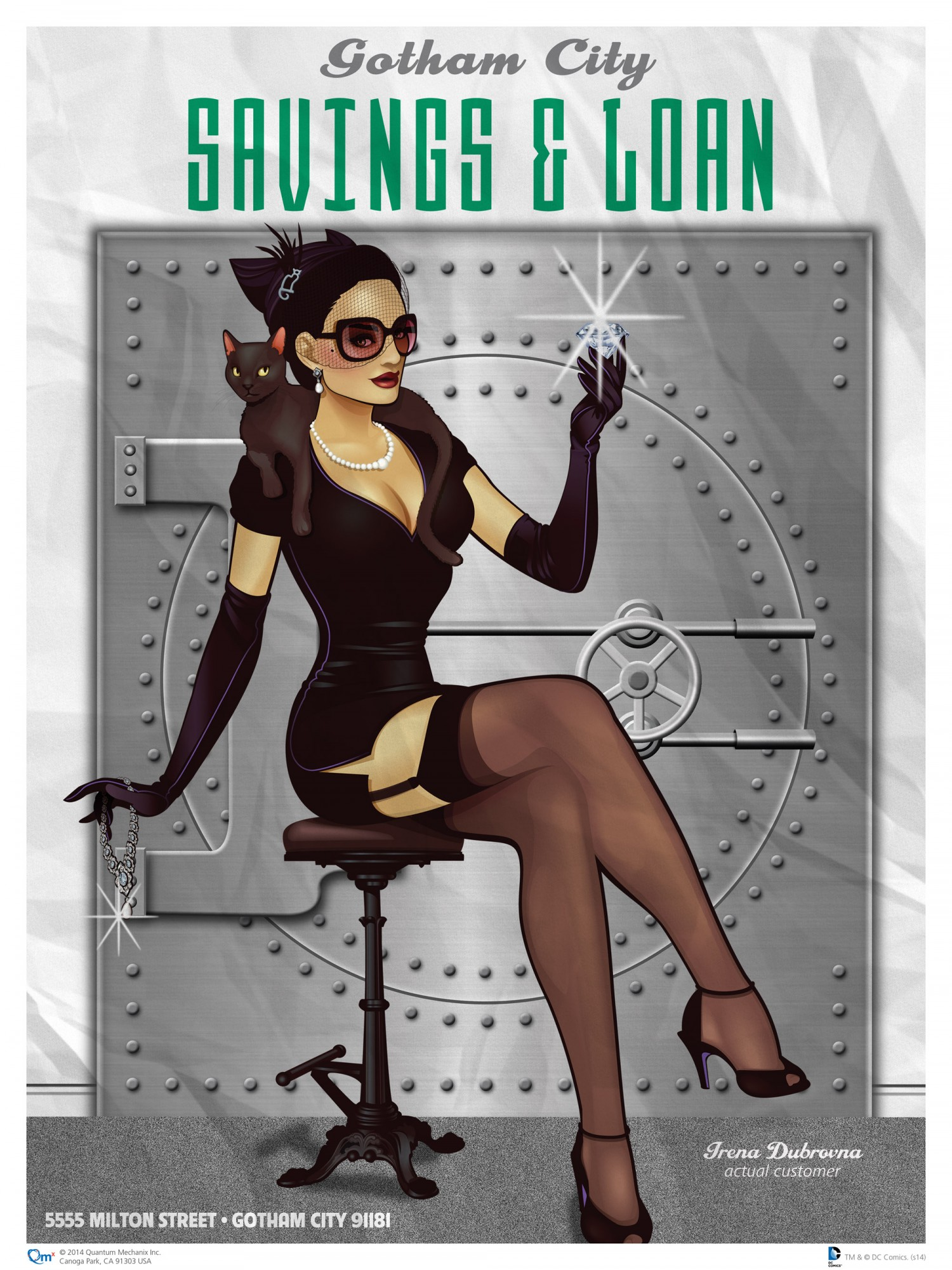 catwoman dc bombshell print