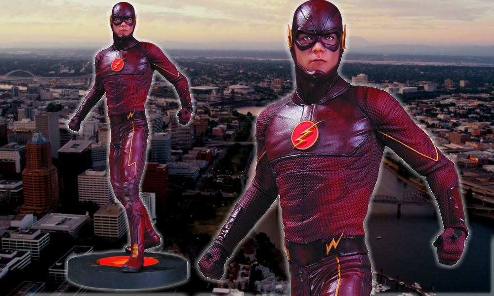 flash tv statue